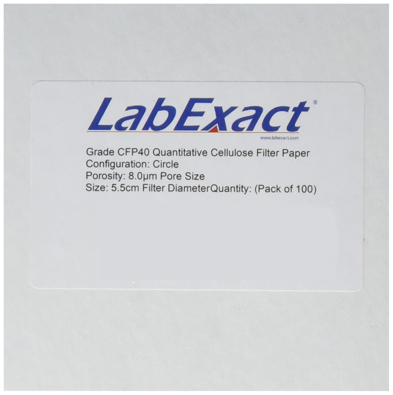 LabExact 1200249Grade Bombing free shipping CFP40 Quantitative Cellulose Filter 55% OFF Paper