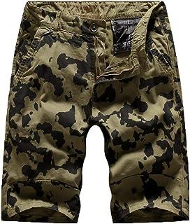 Aliturtle Men's Pants Expandable Waist Work Cargo Shorts Camo Athletics Outdoor Pants (Khaki,38)