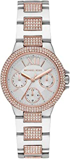 Michael Kors Camille Women's White Dial Stainless Steel Analog Watch MK6846, Multicolor, Camille, MK6846