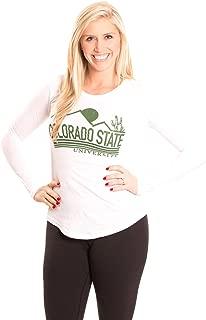 NCAA Colorado State Rams Women's Long Sleeve T-Shirt, Medium, White