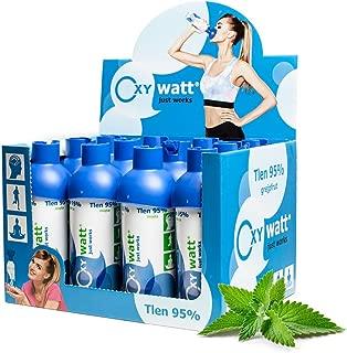 OXYwatt mint 95% ee oxígeno en una lata, 12 botellas de oxigeno 5 litros