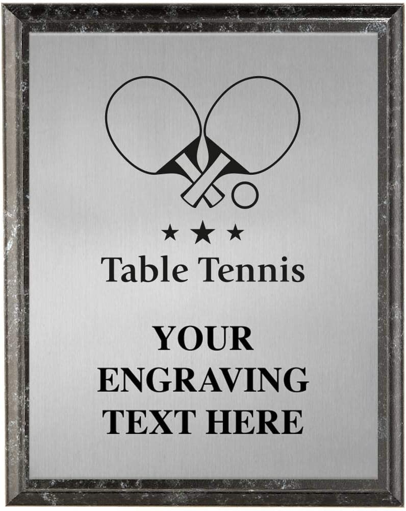 Table Tennis Plaques Personalized Ping New popularity Trophy Pong Plaque Award shopping