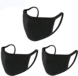 3 Pack Fashion Protective,Unisex Black Dust Cotton Anti Air Dust Facial Covering
