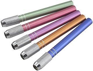 Pack of 5 Pencil Lengthener Extender Holder Random Colors Aluminum