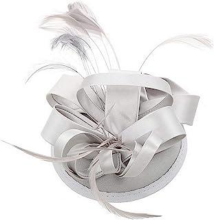 Ukerdo Fascinator Headbands Hats Feathers for Women Tea Party Wedding Derby Hair Decoration