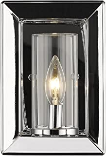 Golden Lighting 2074-1W CH-CLR One Light Wall Sconce, Chrome