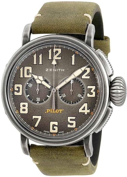 Orologio zenith heritage pilot tipo 20 cronografo automatico mens watch 11.2430.4069/21.c773
