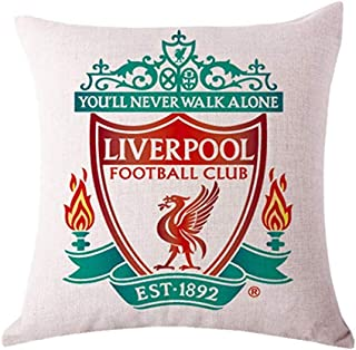 ZQfans Liverpool FC Home Soccer Club Throw Pillow Case Inserts & Linen Covers (Liverpool, 18