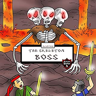 Skeleton Boss: Epic Battle with a Giant Three-Headed Skeleton audiobook cover art