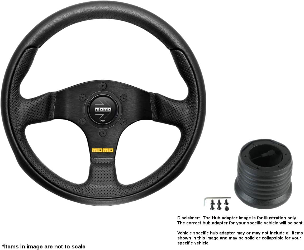 MOMO Team 300mm 11.81 Inches Leather Limited price Super special price Brushed Steering Wheel w