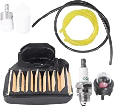 537255701 Air Filter Fuel Line Filter for Husqvarna 455E 455 Rancher 460 461 Gas Chainsaw with Spark Plug Primer Bulb Tune Up Kit