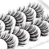 ICYCHEER Mixed 3D Mink Hair False Eyelashes Set Long Thick Wispy Messy Fake Eyelash Mink Lashes Soft Handmade (78)