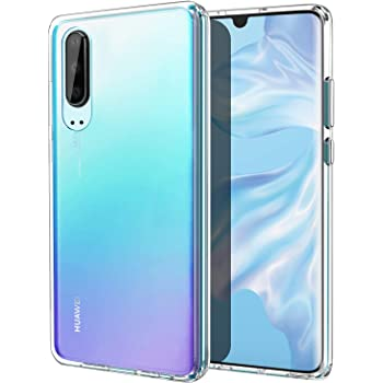 MoKo Compatible with Huawei P30 Case, Slim Anti-Scratch Hard PC Backplate + TPU Bumper Shock Absorption Hybrid Anti-Yellow Cellphone Cover Shell Fit with Huawei P30 - Crystal Clear