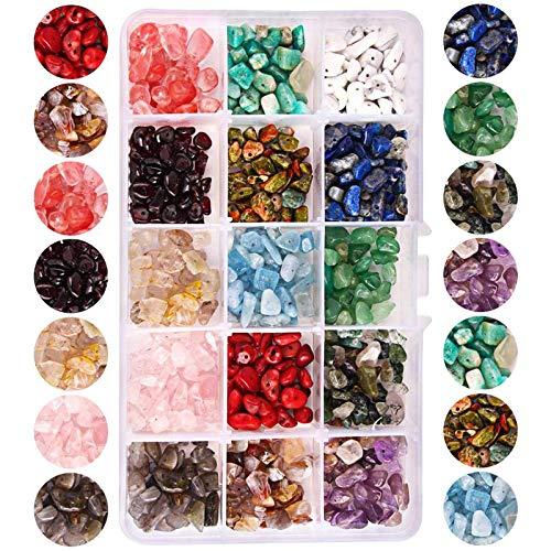 RENSHENKTO Chip Gemstone Beads ForBracelets Necklace Natural Irregular Crystal 15colors