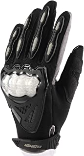 PinShang Shockproof Summer Breathable Mesh Motorcycle Racing Gloves Touch Screen Off Road Motorbike Riding Gloves gray L