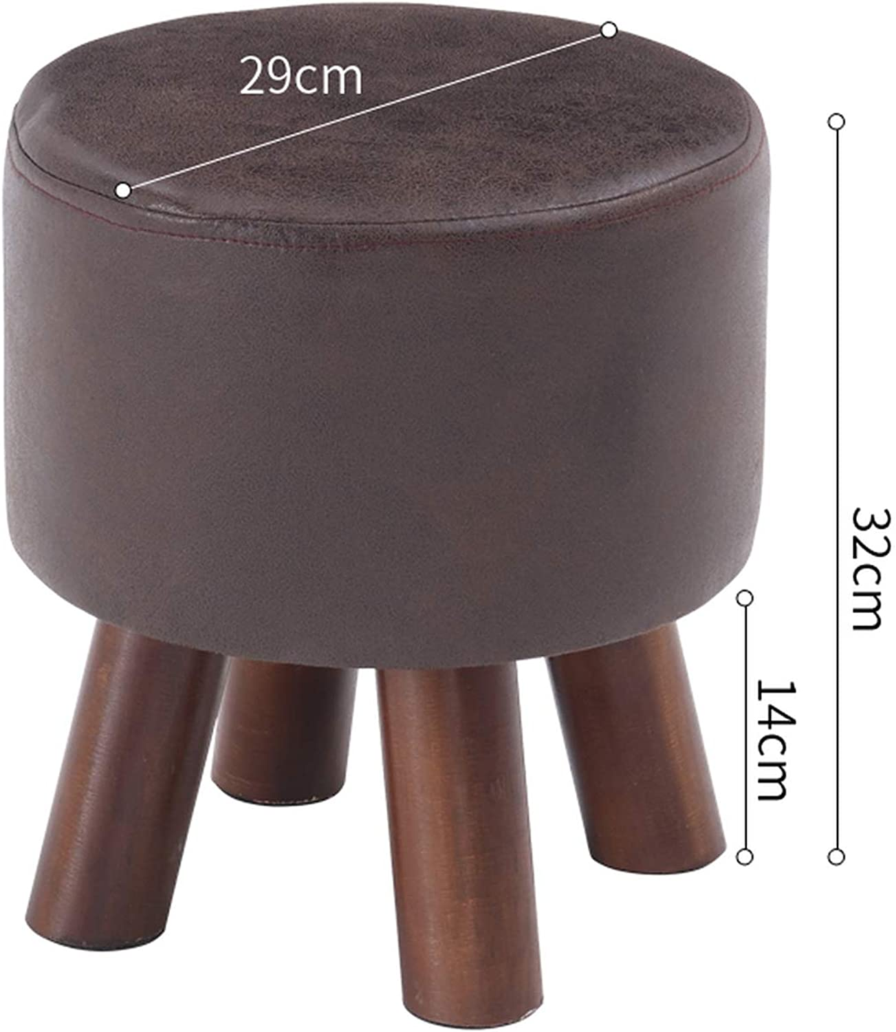 KKK-3boss Solid Wood Stool Fashion Stool Creative shoes Bench Sofa Bench Home Stool Small Bench Dining Table Stool,C01