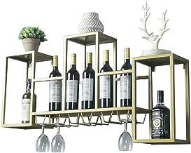 Yxsd Kitchen Storage Organisation Wine Rack Wine Glass Holder Wall Holder For Bar Made Of Metal | Wall Shelf Storage Rack ...