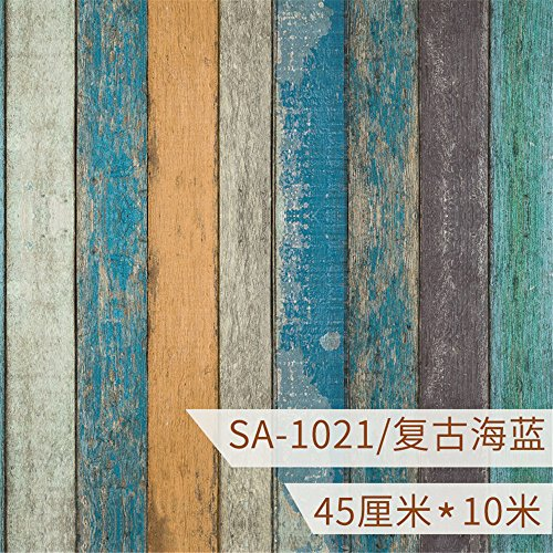 GOUZI 3D-wasserfeste Selbstklebende Tapete 10m Wandfläche, die Farbleiste 45 cm Wahlen 10 m Wall Sticker abnehmbare Wall Sticker für Schlafzimmer Wohnzimmer Hintergrund Wand Bad Studie Friseur