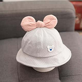 DWXWMZ Sombrero para Niños Children's Baby Hat Thin Girl Fisherman Hat Princess Cute Bow Cartoon Baby Newborn Sun Hat