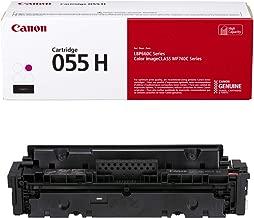 Canon Genuine Toner, Cartridge 055 Magenta, High Capacity (3018C001) 1 Pack, for Canon Color imageCLASS MF741Cdw, MF743Cdw, MF745Cdw, MF746Cdw, LBP664Cdw Laser Printers