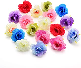Pauwer Fleurs de Roses artificielles 18 t/êtes de Faux Bouquet de Roses en Soie Bouquet de Mariage f/ête de Mariage Maison Jardin Bricolage d/écoration