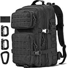 Wycoff Gear Military Tactical Backpack,40L Large 3 Day Assault Pack Army Molle Backpacks for Outdoor Hiking Camping Hunting w/USA Flag Patch/D-Rings