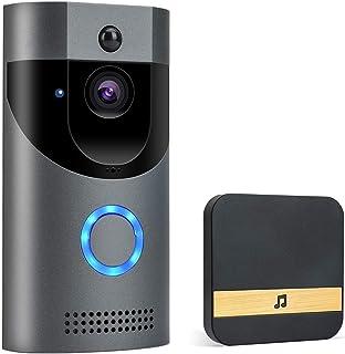 POWERGIANT Sonnette Vidéo sans Fil - Visiophone Caméra IP65 Étanche avec Conversation Bidirectionnelle Vision Nocturne et ...