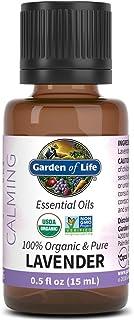 Garden of Life Essential Oil, Lavender 0.5 fl oz (15 mL), 100% USDA Organic & Pure, Clean, Undiluted & Non-GMO - for Diffu...