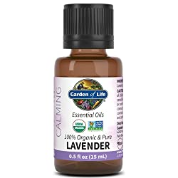 Garden of Life Essential Oil, Lavender 0.5 fl oz (15 mL), 100% USDA Organic & Pure, Clean, Undiluted
