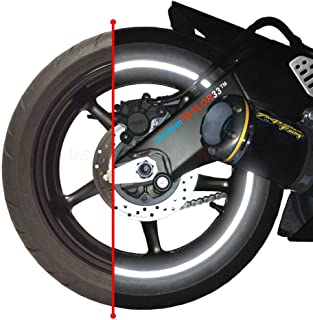 """customTAYLOR33 ブラック エンジニアリンググレード反射剤 リムテープ 版権取得済み (リムサイズに合ったものをお選びください) 17"""" (Rim Size for Most SportsBikes) ブラック CA-BlackRi..."""