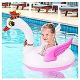 Bramble Flotador Cisne Hinchable Pequeño, 65x65x40cm - Fuerte y Duradero - Colchoneta Inflable Swan Juguetes para Piscina Playa Agua Verano Fiesta para Niños.