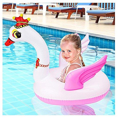 Cigno Gonfiabile Piccolo, 65x65x40cm - Gommone Swan, Cavalcabili Gonfiabili - Giochi per Estate Piscina Spiaggia Mare Acqua Pool Festa per Bambini.
