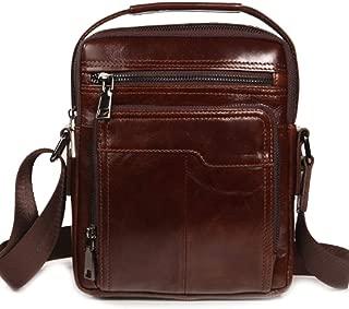 Leather Chest Bag - Casual Shoulder Bag Messenger Bag, Men's Small Backpack Briefcase Retro Pocket Phone Bag