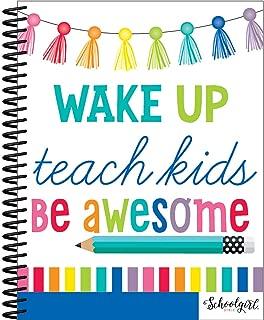 Schoolgirl Style – Hello Sunshine Teacher Planner, Spiral Bound, 128 Pages, with 46 Accent Stickers