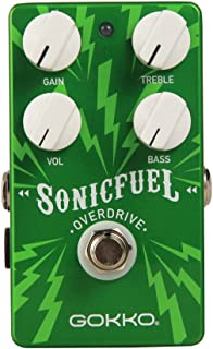 GOKKO AUDIO GK-20 SonicFuel Overdrive Guitar Effect Pedal, True Bypass with Aluminum Alloy Housing