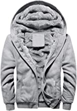 FOURSTEEDS Women's Solid Hooed Hoodies Thick Wool Lining Warm Winter Jacket Coats