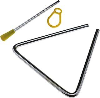 Musical - Bata de música para niños de triángulo, diseño de triángulo, color plateado
