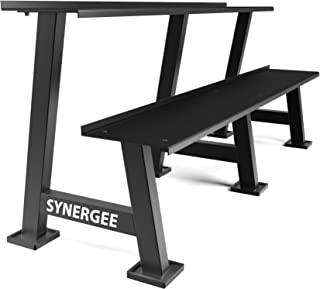 Synergee Kettlebell Storage Rack - Gym Storage Rack for Fitness Equipment Organization - 2-Tier Shelf for Holding Kettlebell Set