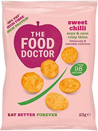 The Food Doctor Sweet Chilli Corn & Soy Thins 23g (Pack of 10)