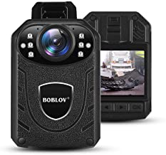 BOBLOV Body Camera 1296P Body Wearable Camera Support Memory Expand Max 128G 8-10Hours Recording Police Body Camera Lightw...