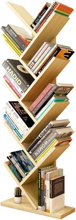 zlw-shop /Étag/ère /à Livres Biblioth/èque en Forme darbre /à Neuf Couches Livres Pr/ésentoir for CD /Étag/ère en Bois /Étag/ère de Rangement for la Maison /Étag/ères Color : A