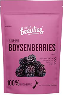 Freeze-Dried NZ Boysenberries. Non-GMO. Handmade in New Zealand by Little Beauties. 0.7 oz (20 grams)