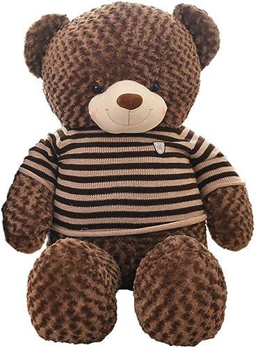 MISJIA Peluche de San Valentín, día de Fiesta, Regalo de cumpleaños Abrazo muñeca de Oso, 60 80 100 120 160 180cm marrón Bear Doll Oso de Peluche Grande Fyxd,100cm