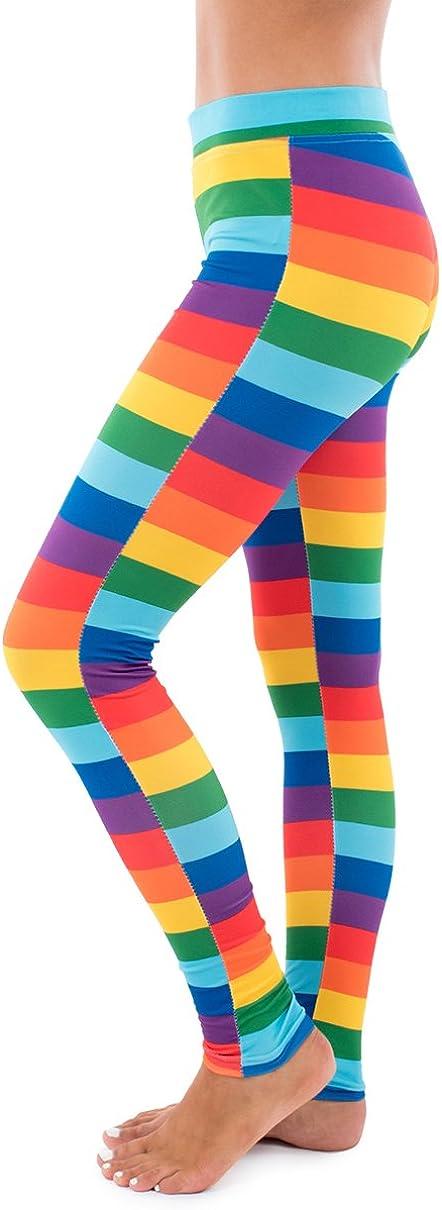 Splatter Neon Leggings - Neon Retro Rainbow Tights for Women at  Women's Clothing store