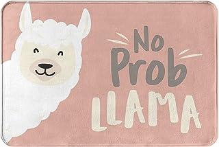 Cartoon Alpaca Bath Mat Prob Llama Non Slip Super Bathroom Rug Indoor Carpet Doormat Floor Dirt Trapper Mats Shoes Scraper...