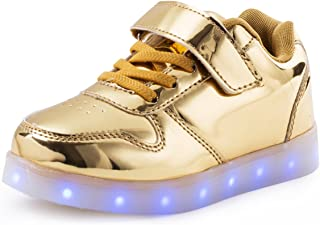 b36ccb42b5 AFFINEST Boy Girls Light up Shoes Led Flashing Fashion Sneaker Kids Toldder