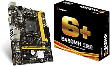 BIOSTAR B450MH Micro ATX Motherboard with AMD B450 Chipset