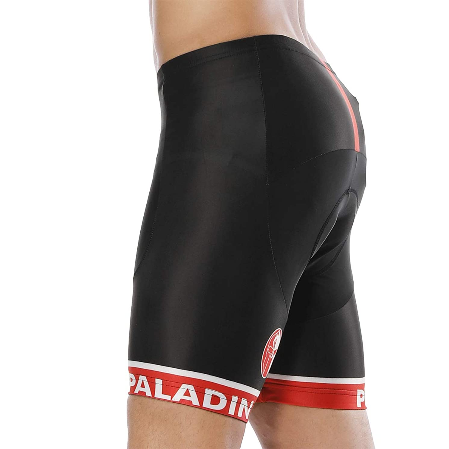 Yrffdk Summer Men's Cycling Shorts Pants Tights Reflective Breathable 4D Padded Moisture Wicking Waterproof Comfortable Wearing,Black,L