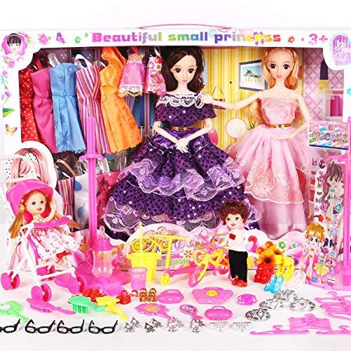 TOPJIN Girls Be a Fashion Designer Doll Dress Up Kit (H)