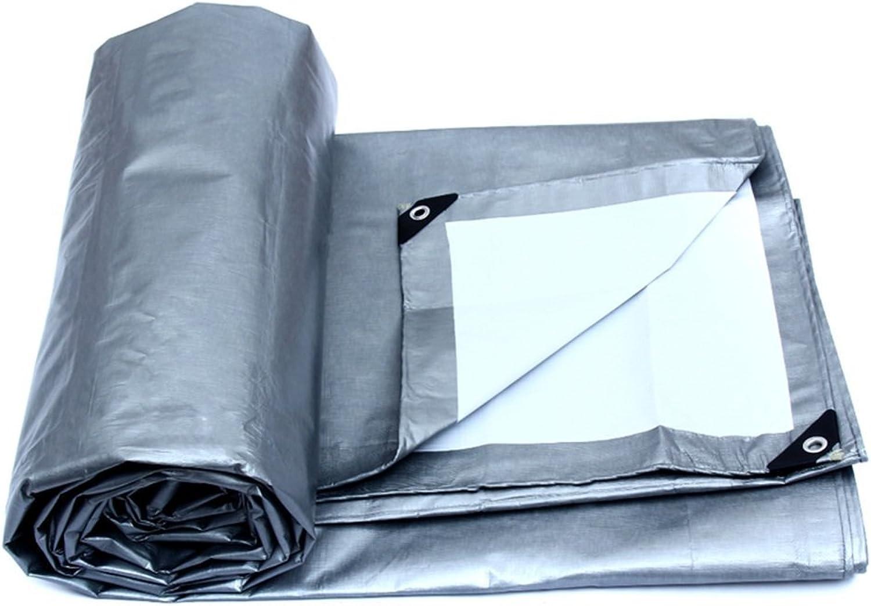 QINCH Regenschutztuch Regenschutztuch Regenschutztuch wasserdicht Plane LKW Regenschutz Sonnencreme Fracht staubdicht Winddicht Schuppentuch Hochtemperatur-Anti-Aging, Silber  weiß, weiß (Farbe   SilberWeiß, Größe   8 x 10m) B07PFHX3DK  Einfach zu bedienen 6c6d5e